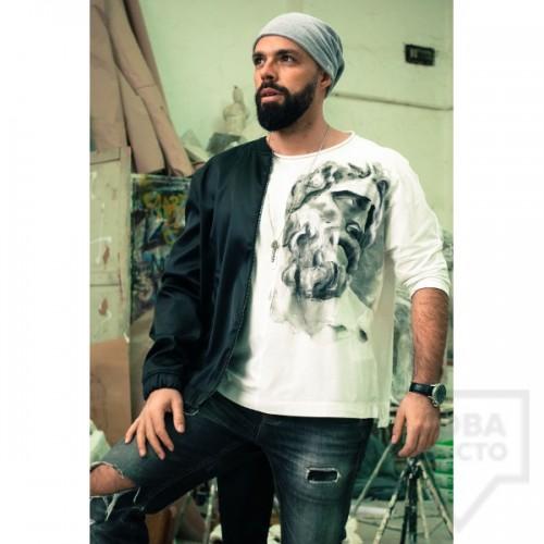 Ръчно рисувана мъжка блуза EGO - Зевс