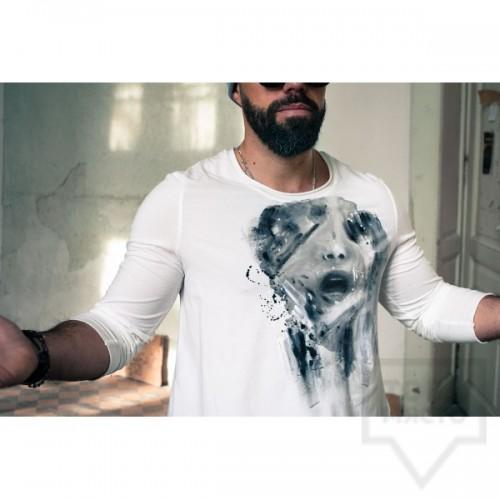 Ръчно рисувана мъжка блуза EGO - Жажда за внимание