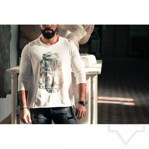 Ръчно рисувана мъжка блуза EGO - Коринтски капител колона