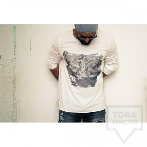 Ръчно рисувана мъжка блуза EGO - Коринтски капител