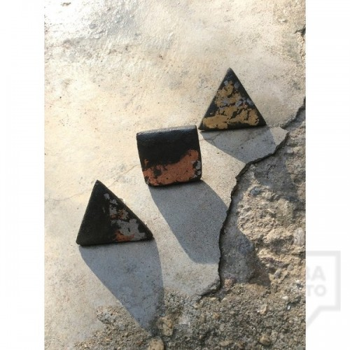 Дизайнерски пръстен EvaPendientes - бетон