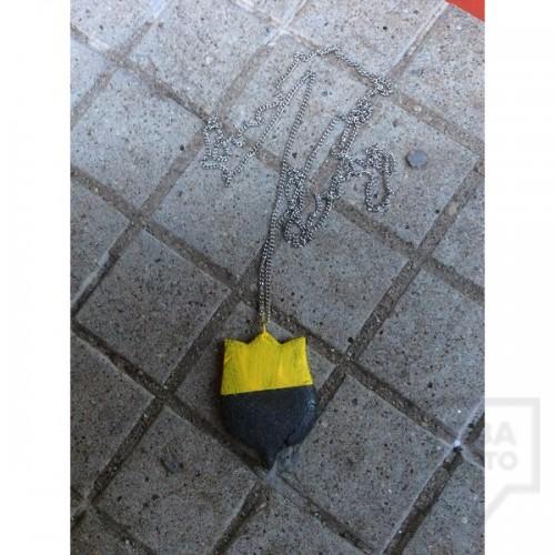 Колие EvaPendientes - жълто лале
