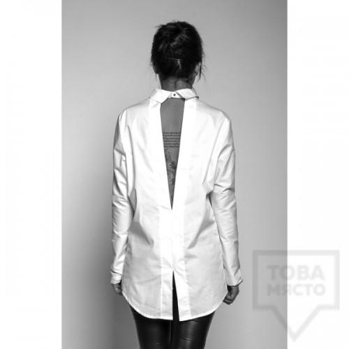 Дамска риза с гол гръб Experiment
