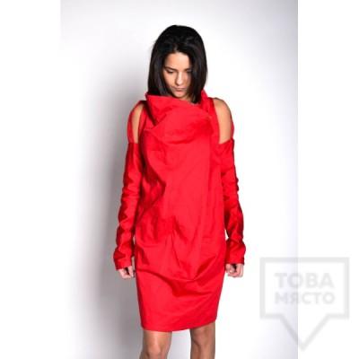Дизайнерска рокля Experiment - red chaos