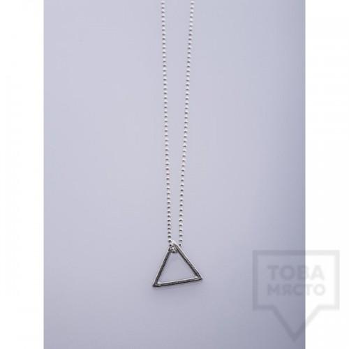 Сребърно колие Feelosophy - триъгълник