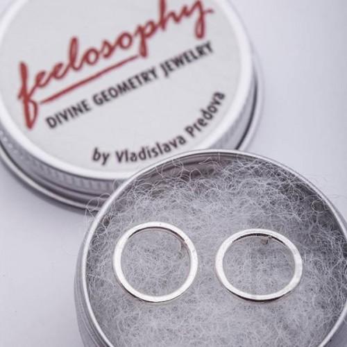Сребърни обеци Feelosophy - кръг