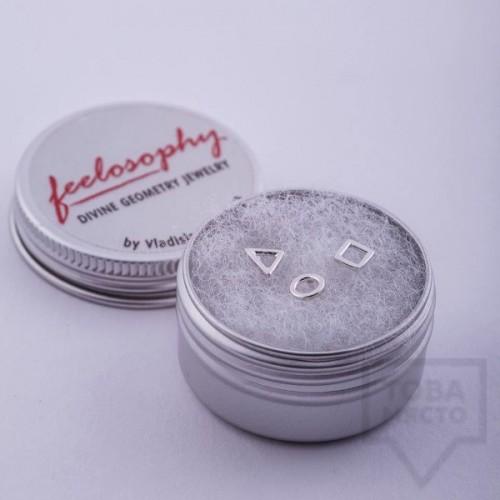 Комплект сребърни обеци Feelosophy whisper - геометрични