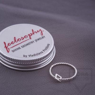 Сребърен пръстен Feelosophy Whisper - квадрат