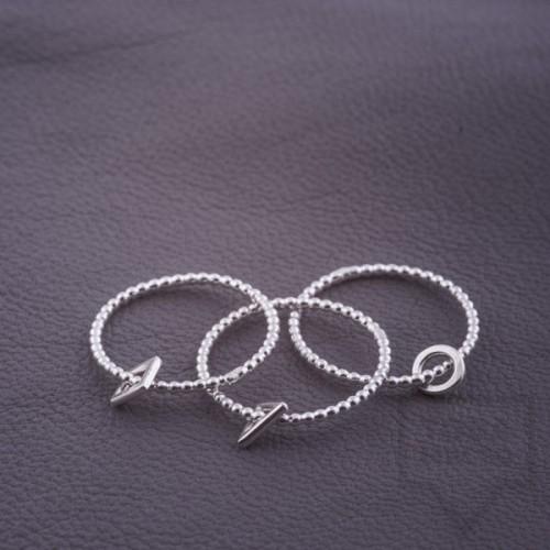 Сребърен пръстен Feelosophy - мини квадрат