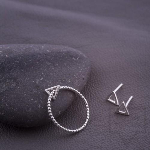Сребърен пръстен Feelosophy - мини триъгълник