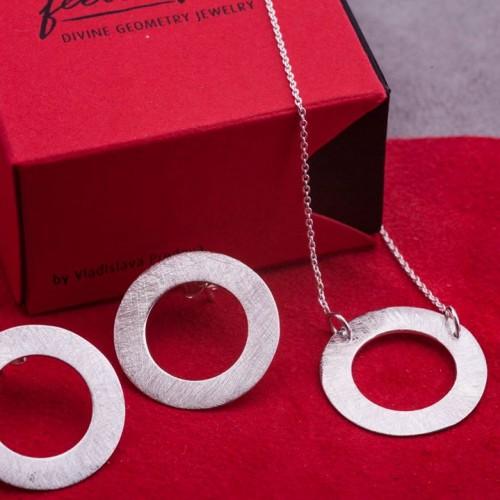 Сребърни обеци Feelosophy - bold кръг