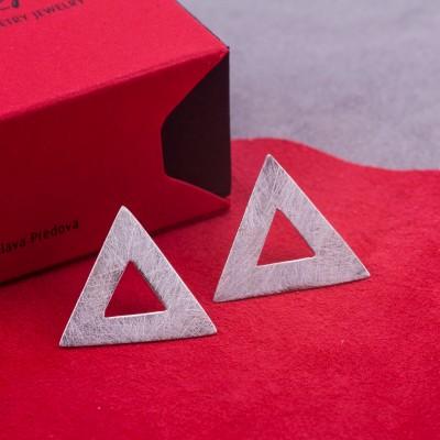 Сребърни обеци Feelosophy - bold триъгълник