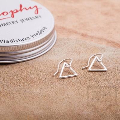 Сребърни обеци Feelosophy Goldy - триъгълник