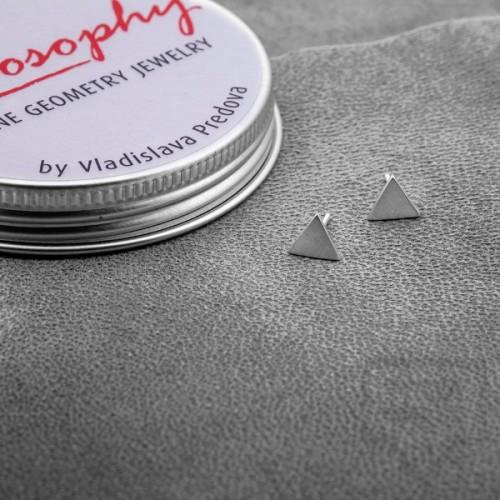 Сребърни обеци Feelosophy Hardware - триъгълник