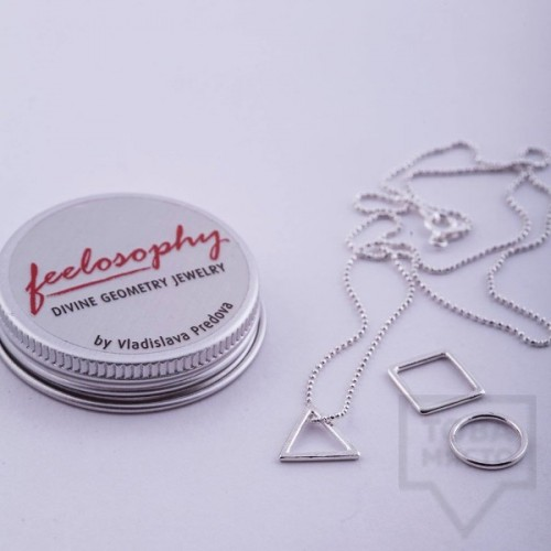 Сребърно колие Feelosophy Signature - три елемента