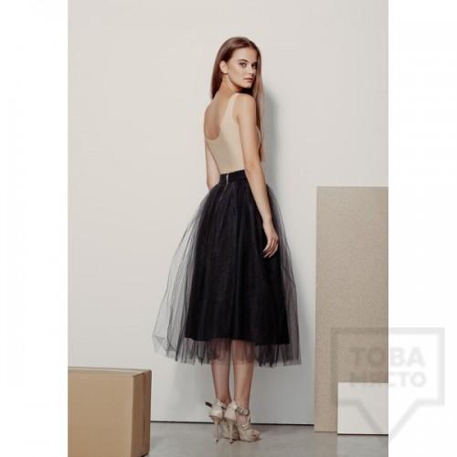 Дизайнерска пола Garderob - Black Wool