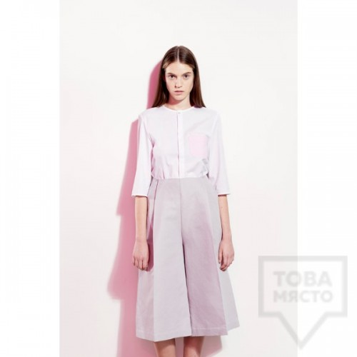 Дизайнерска риза Garderob - White Cotton