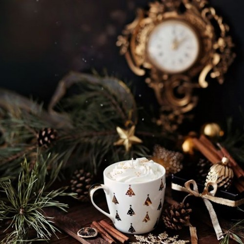 Ръчно изработена свещ Gancini - golden cofee