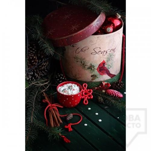 Ръчно изработена свещ Gancini - red snowflake