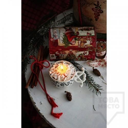 Ръчно изработена свещ Gancini - white snowflake