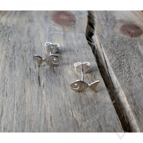 Ръчно изработени сребърни обеци Гаргорок - рибки