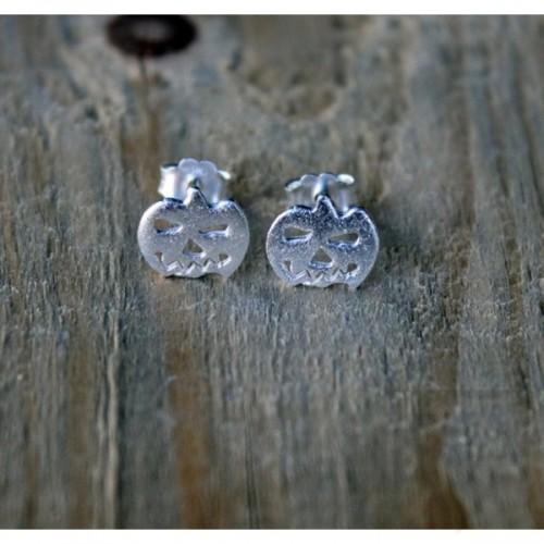 Ръчно изработени сребърни обеци Gargorock - тикви