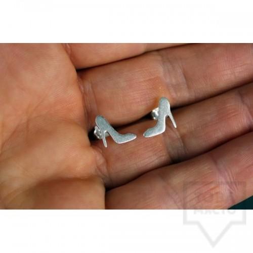 Ръчно изработени сребърни обеци Gargorock - високи токчета