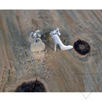 Ръчно изработени сребърни обеци Gargorock - чанта и токче