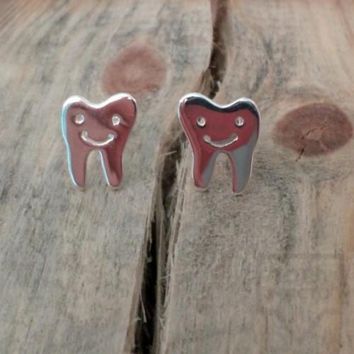 Сребърни обеци Gargorock - зъбчета