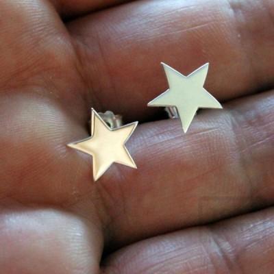 Ръчно изработени сребърни обеци Gargorock - звездички