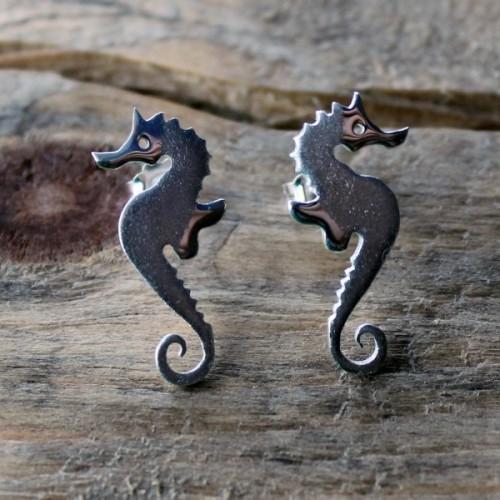 Сребърни обеци Gargorock - морски кончета