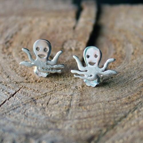 Сребърни обеци Gargorock - октоподи