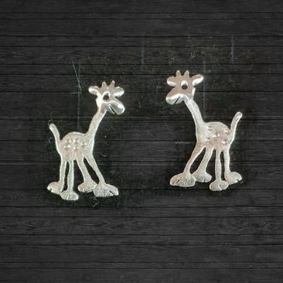 Ръчно изработени сребърни обеци Gargorock - жирафи