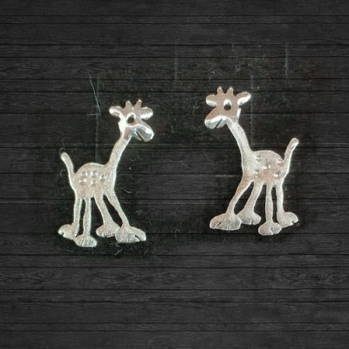 Сребърни обеци Gargorock - жирафи
