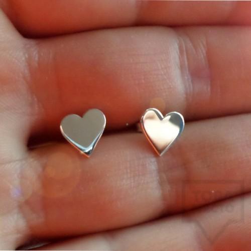 Сребърни обеци Gargorock - сърца