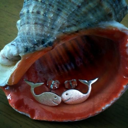 Сребърни обеци Гаргорок - делфини