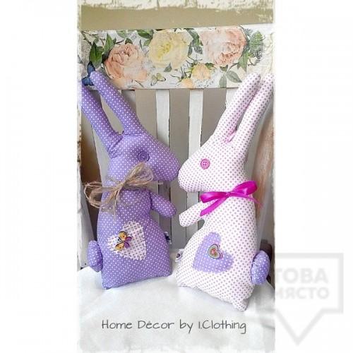 Декоративна ръчно изработена кукла I.Clothing - funny bunny