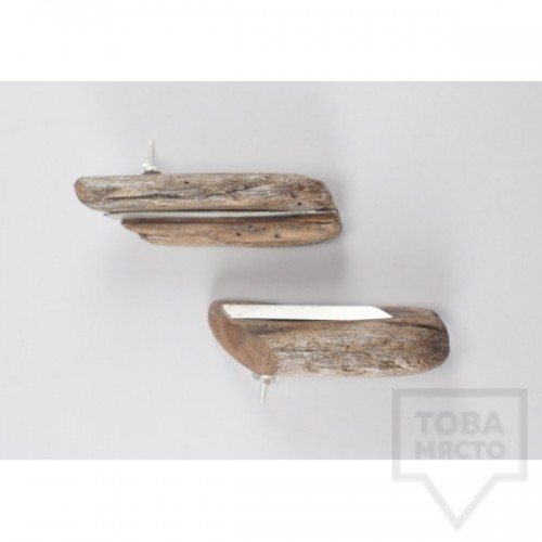Дизайнерски ръчно изработени обеци IR jewelry - Two from one