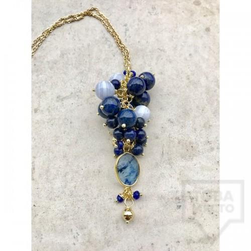 Ръчно изработено колие Jewelry by Emiliya - Blue Romance