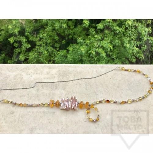 Ръчно изработено колие Jewelry by Emilya-crystal energy