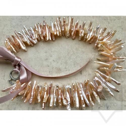 Ръчно изработено колие Jewellery by Emilya - остри перли