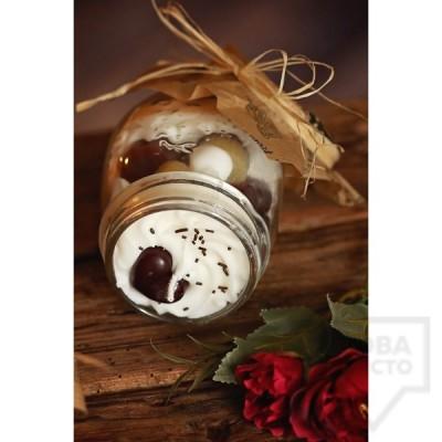 Ръчно изработена свещ KIndy Candles - карамелени бомби