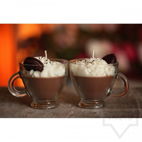 Ръчно изработена свещ KIndy Candles - горещ шоколад