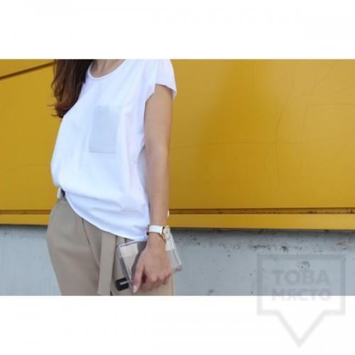 Дамска тениска Кръгче - Винил