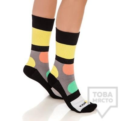 Дамски къси чорапи KrakMe - Bubble Gum