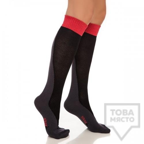 Дамски дълги чорапи KrakMe - Funki Ramp Dark