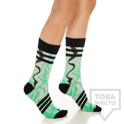 Дамски къси чорапи KrakMe - Ice Fire Green