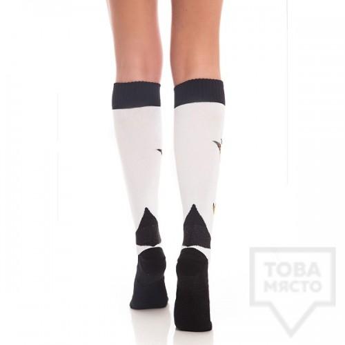 Дамски дълги чорапи KrakMe - Art Shock white