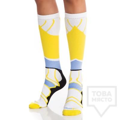 Дамски дълги чорапи KrakMe - Havana futuristic blue