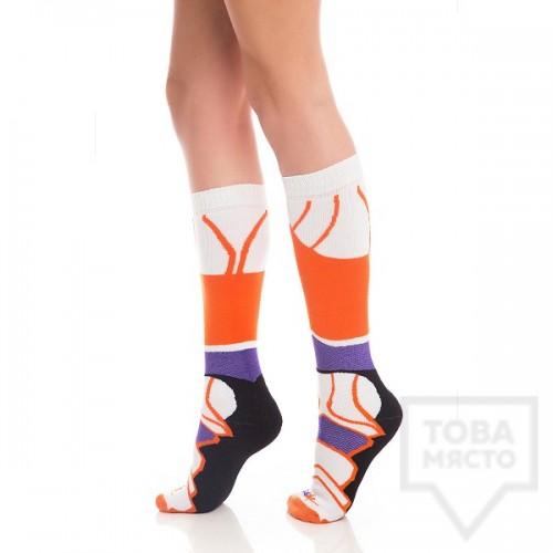 Дамски дълги чорапи KrakMe - Havana futuristic purple